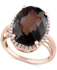 Effy Sienna By Smoky Quartz 2 3 8 Ct. T.W. And Diamond 1 4 Ct. T.W. Ring In 14K Gold Yellow Gold