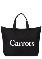 Carrots By Anwar Carrots Black Canvas Tote
