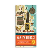 Chronicle Books City Scratch Off Map San Francisco