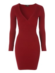 Jane Norman Red Cross Over Jumper Dress Berry