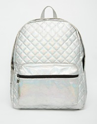 New Look Holographic Backpack Silver