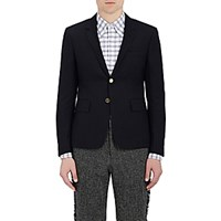 Thom Browne Men's Basket Weave Two Button Sportcoat Navy