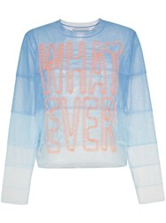 Viktor And Rolf Whatever Panelled Tulle Top Blue