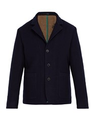 Paul Smith Double Faced Wool Jacket Navy