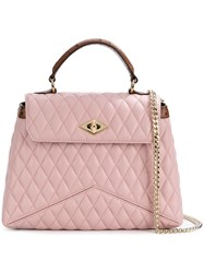 Ballantyne Quilted Shoulder Satchel Pink And Purple