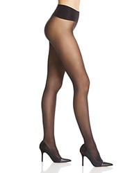 Hue Mini Diamond Sheer Control Top Tights Black