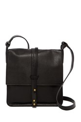 Cynthia Vincent Deliz Leather Crossbody Black
