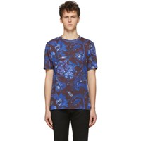 Paul Smith Ssense Exclusive Blue And Purple Goliath Floral T Shirt