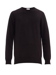 Raey Slim Fit Crew Neck Cashmere Sweater Black