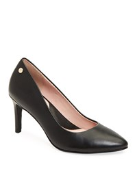 Taryn Rose Tamara Leather Pumps Black