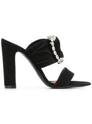 Via Roma 15 Embellished Buckle Sandals Black