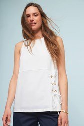 Anthropologie Side Laced Tank Top White