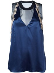 3.1 Phillip Lim Embroidered Tank Top Blue