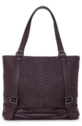 Vince Camuto Tave Quilted Leather Tote Purple Vamp