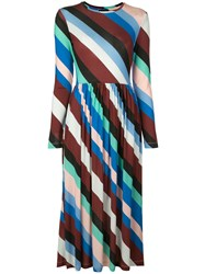 Stine Goya Diagonal Stripes Dress Multicolour