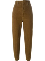 Etoile Isabel Marant A Toile 'Field' Corduroy Trousers Brown