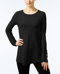 Alfani Ribbed Swing Sweater Only At Macy's Deep Black