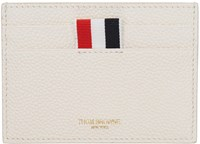 Thom Browne White Single Card Holder