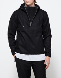 Shades Of Grey Shirttail Hem Anorak Black