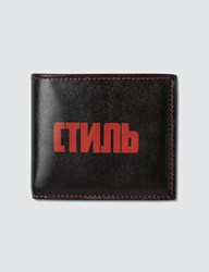 Heron Preston Ctmnb Billfold Wallet Black