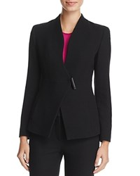 Armani Collezioni Textured Barrel Closure Blazer Black