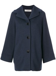 D.Exterior Cape Style Coat Women Polyester Wool S Blue