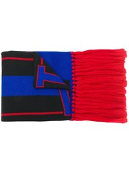 Versace Fringed Scarf Blue