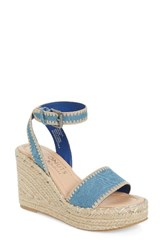 Matisse Women's Coconuts By Frenchie Wedge Sandal Light Denim Fabric