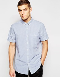 Jack Wills Shirt With Gingham Check Short Sleeves Blue