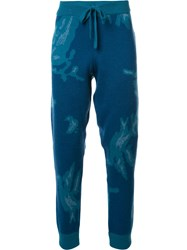 Baja East Abstract Print Track Pants Blue
