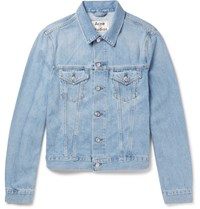 Acne Studios Who Slim Fit Washed Denim Jacket Blue