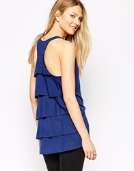 Twenty Tank Top With Ruffle Back Marine