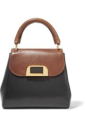 Marni Two Tone Leather Tote Black