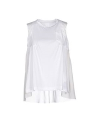Sacai Tank Tops White