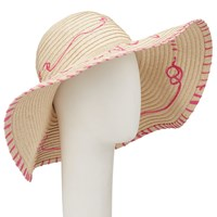 John Lewis Bon Voyage Packable Floppy Sun Hat Natural Pink
