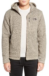 The North Face Men's Gordon Lyons Relaxed Fit Sweater Fleece Hoodie Dune Beige Heather