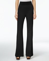 Inc International Concepts Pull On Wide Leg Pants Only At Macy's Deep Black