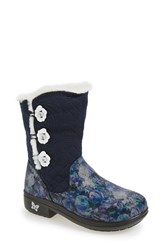 Alegria Women's 'Nanook' Suede Boot Winter Garden Navy Leather