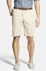 Men's Big And Tall Bobby Jones Stretch Cotton Flat Front Shorts Stone