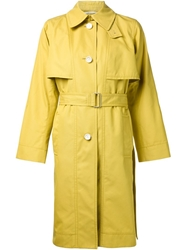 Rosetta Getty Belted Trench Coat Yellow And Orange