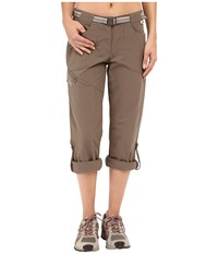 Jack Wolfskin Safari Roll Up Pants Siltstone Women's Casual Pants Brown