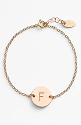 Women's Nashelle 14K Gold Fill Initial Disc Bracelet 14K Gold Fill F