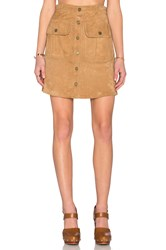 Etienne Marcel Button Up Skirt Brown