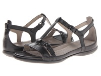 Ecco Flash T Strap Sandal Black Dress Women's Sandals