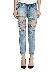 One Teaspoon Freebirds Ripped Skinny Ankle Jeans Cobain