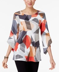 Alfani Angel Sleeve Top Only At Macy's Geometric Reef