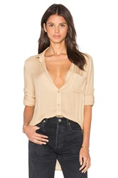 Bella Dahl Shirt Tail Button Down Cream