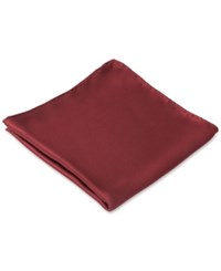 Club Room Pocket Square Silk Solid Wine