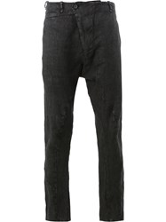 Masnada Wrap Front Skinny Trousers Black