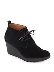 Donald J Pliner Makko Suede Wedge Booties Black